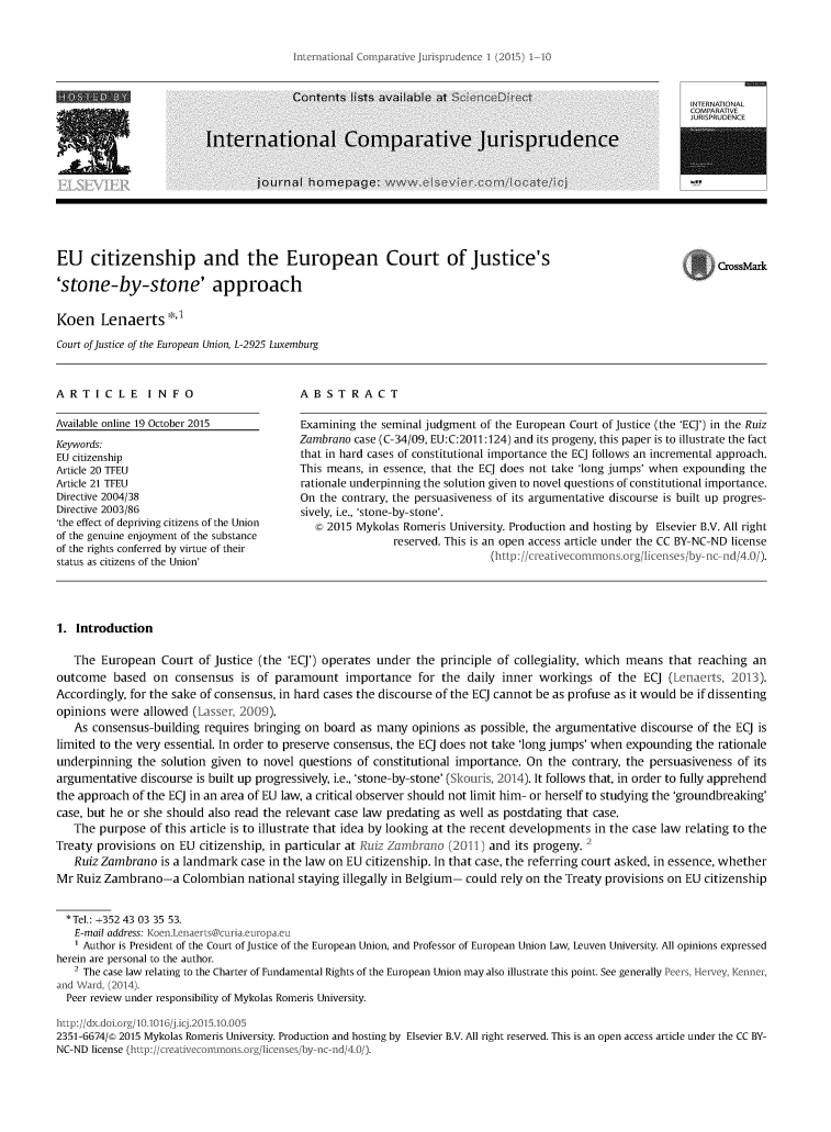 handle is hein.journals/icjuris1 and id is 1 raw text is: 
