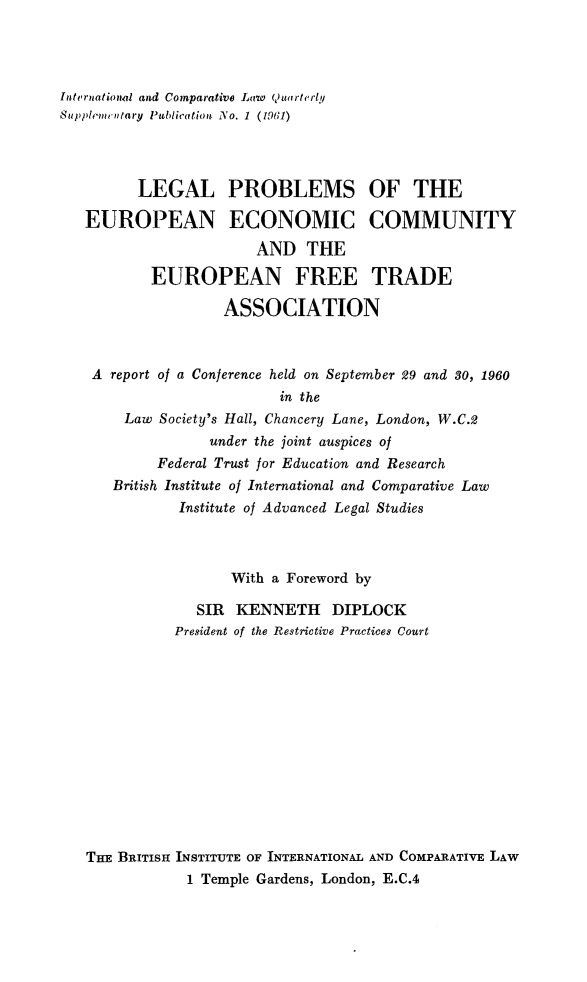 handle is hein.journals/icqlsup1 and id is 1 raw text is: Internationial and Comparative Law 4)uarterly