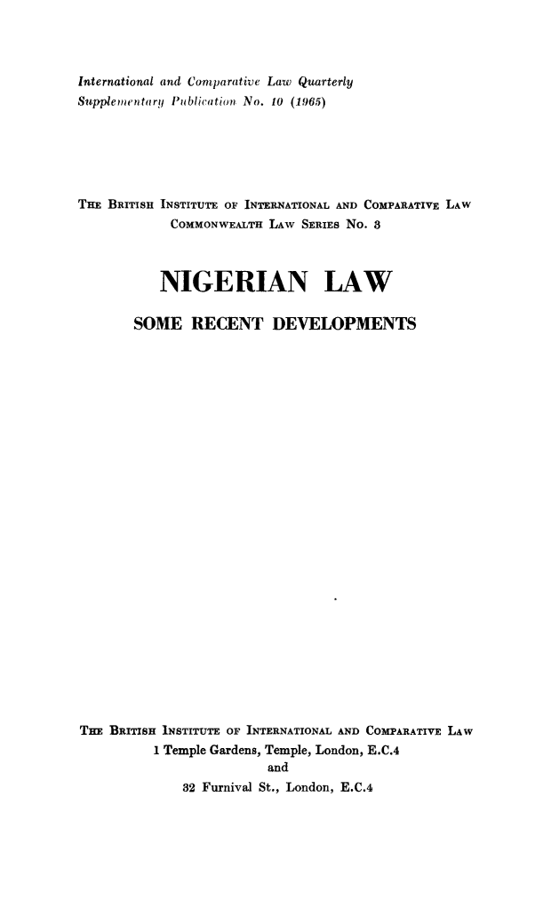 handle is hein.journals/icqlsup10 and id is 1 raw text is: International and Comparative Law Quarterly