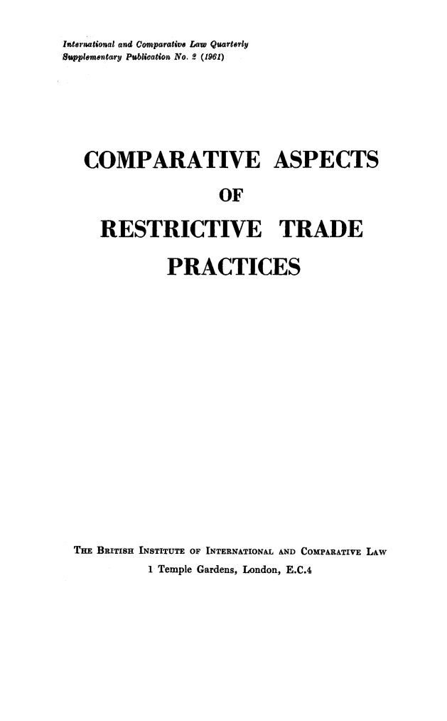 handle is hein.journals/icqlsup2 and id is 1 raw text is: International and Comparative Law Quarterly