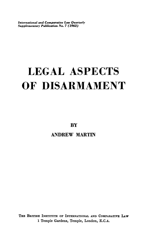 handle is hein.journals/icqlsup7 and id is 1 raw text is: International and Comparative Law Quarterly