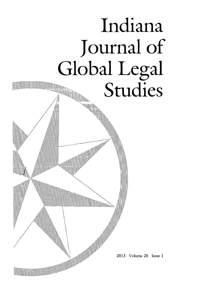handle is hein.journals/ijgls20 and id is 1 raw text is: Indiana