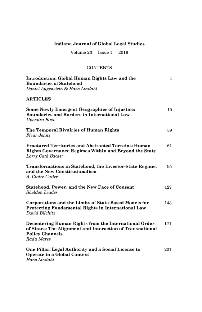 handle is hein.journals/ijgls23 and id is 1 raw text is: 