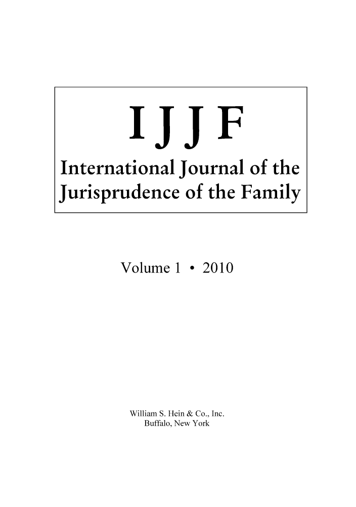 handle is hein.journals/ijjf1 and id is 1 raw text is: Volume 1
