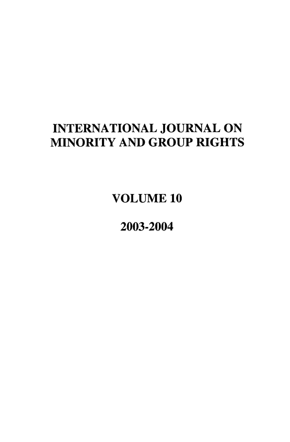 handle is hein.journals/ijmgr10 and id is 1 raw text is: INTERNATIONAL JOURNAL ON