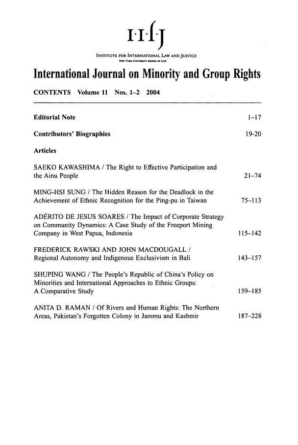 handle is hein.journals/ijmgr11 and id is 1 raw text is: i.i.f.j