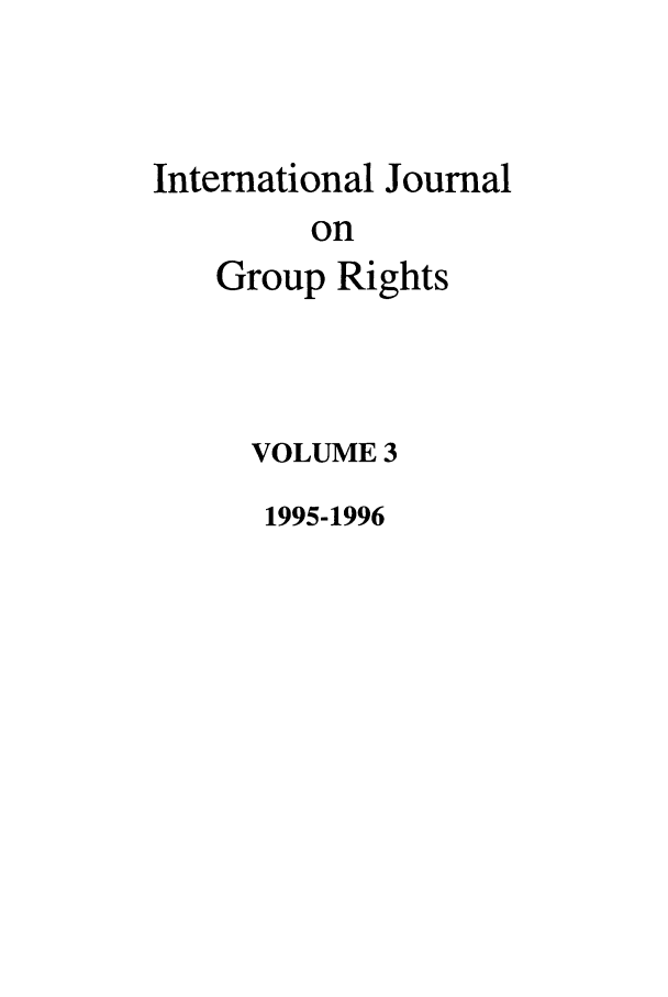 handle is hein.journals/ijmgr3 and id is 1 raw text is: International Journal