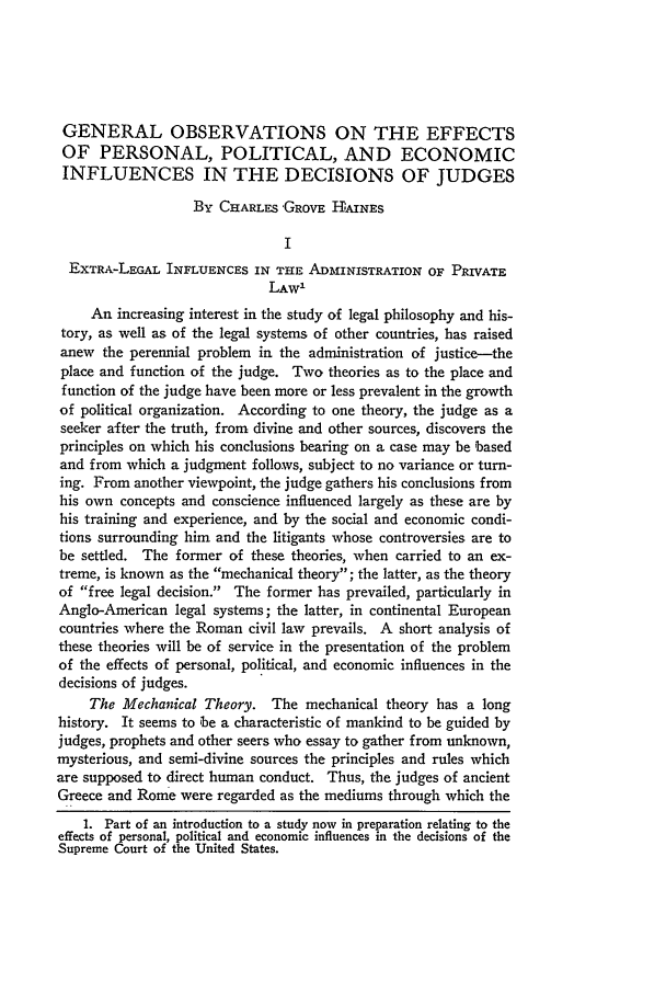 handle is hein.journals/illlr17 and id is 106 raw text is: GENERAL OBSERVATIONS ON THE EFFECTS