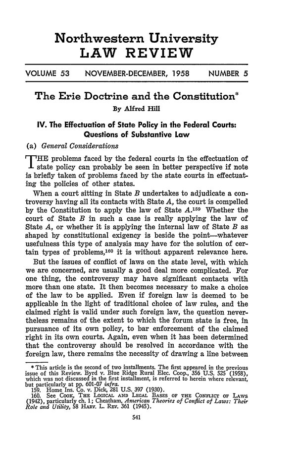 handle is hein.journals/illlr53 and id is 551 raw text is: Northwestern University