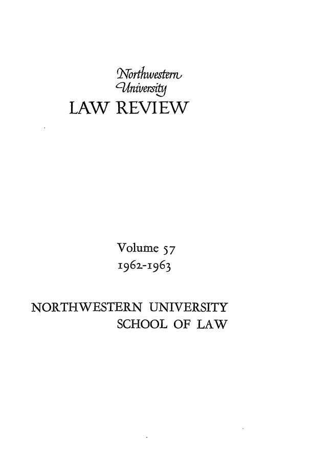 handle is hein.journals/illlr57 and id is 1 raw text is: rbwestern,