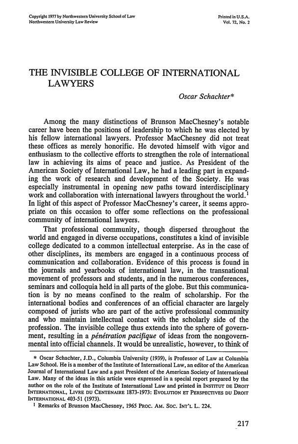 handle is hein.journals/illlr72 and id is 229 raw text is: Copyright 1977 by Northwestern University School of Law    Printed in U.S.A.