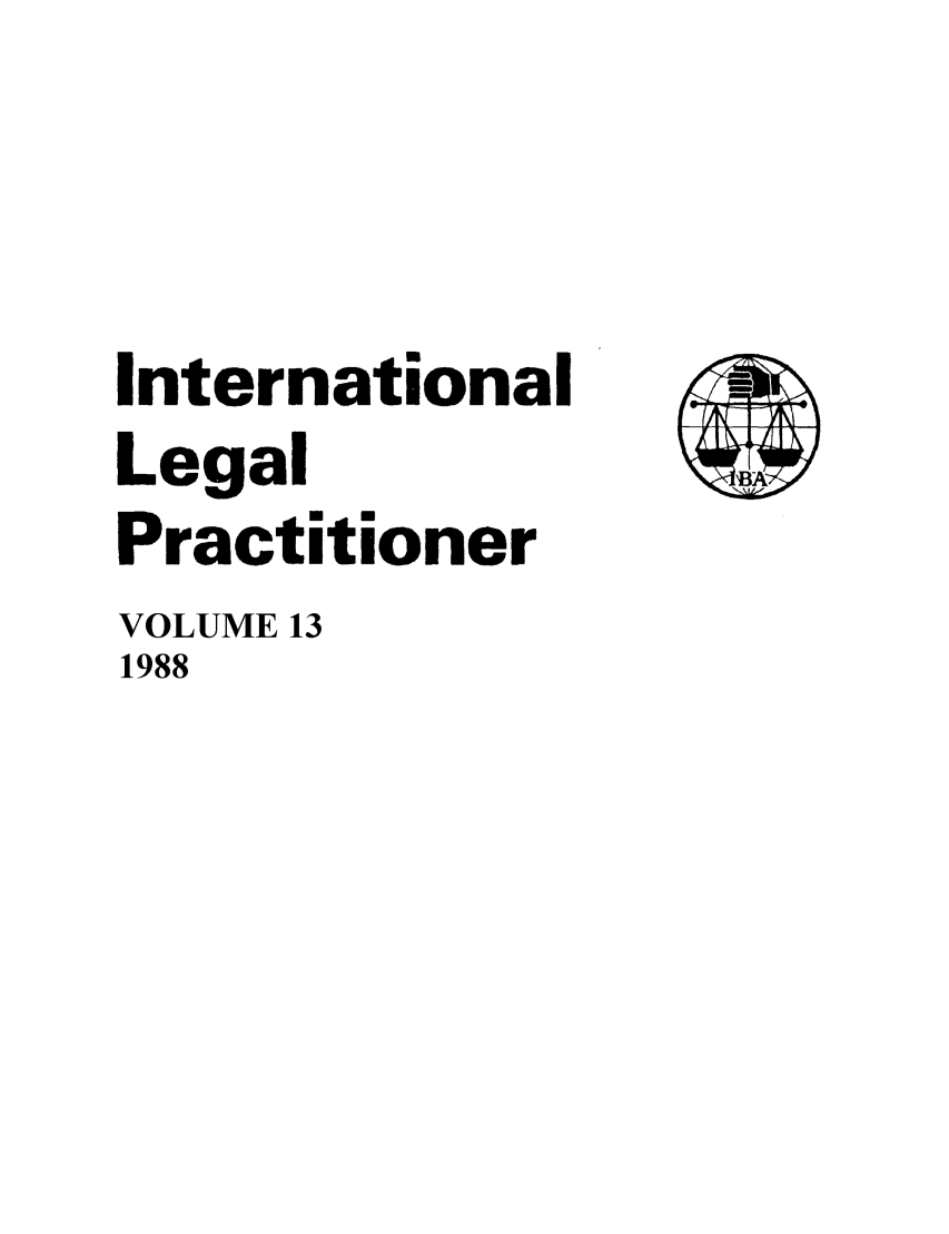 handle is hein.journals/ilp13 and id is 1 raw text is: International