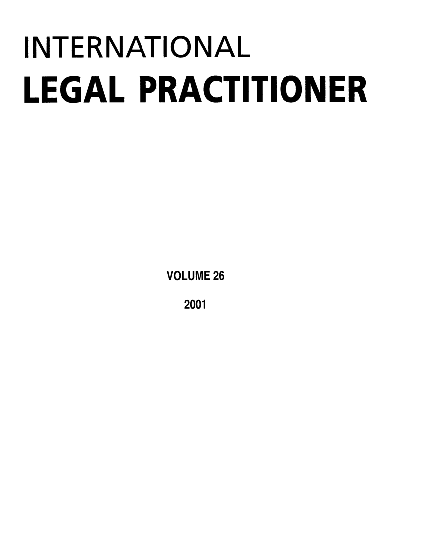 handle is hein.journals/ilp26 and id is 1 raw text is: INTERNATIONAL