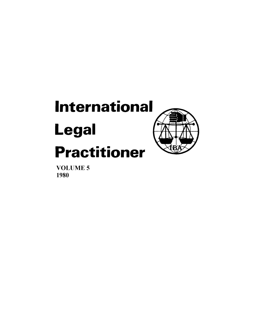 handle is hein.journals/ilp5 and id is 1 raw text is: International