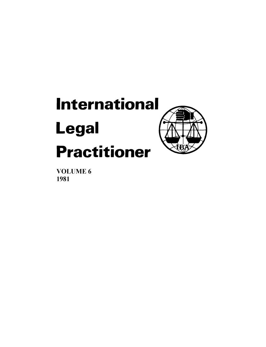 handle is hein.journals/ilp6 and id is 1 raw text is: International