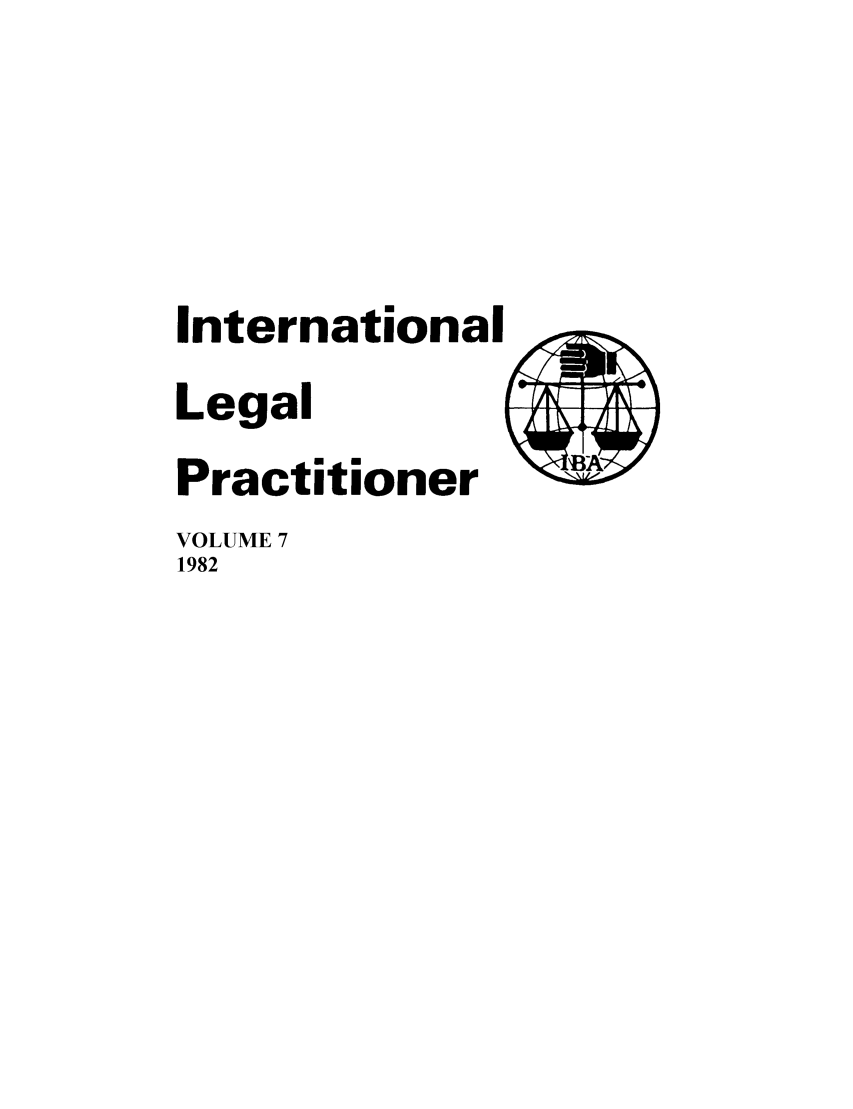 handle is hein.journals/ilp7 and id is 1 raw text is: International