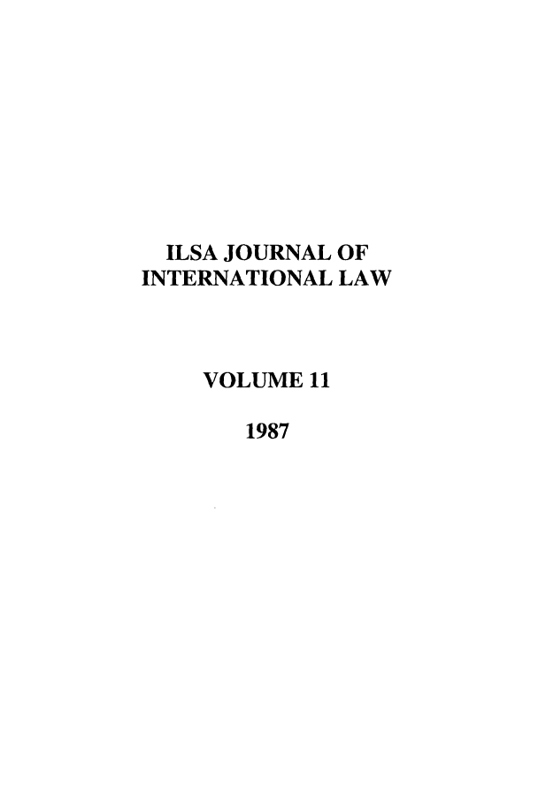 handle is hein.journals/ilsa11 and id is 1 raw text is: ILSA JOURNAL OF