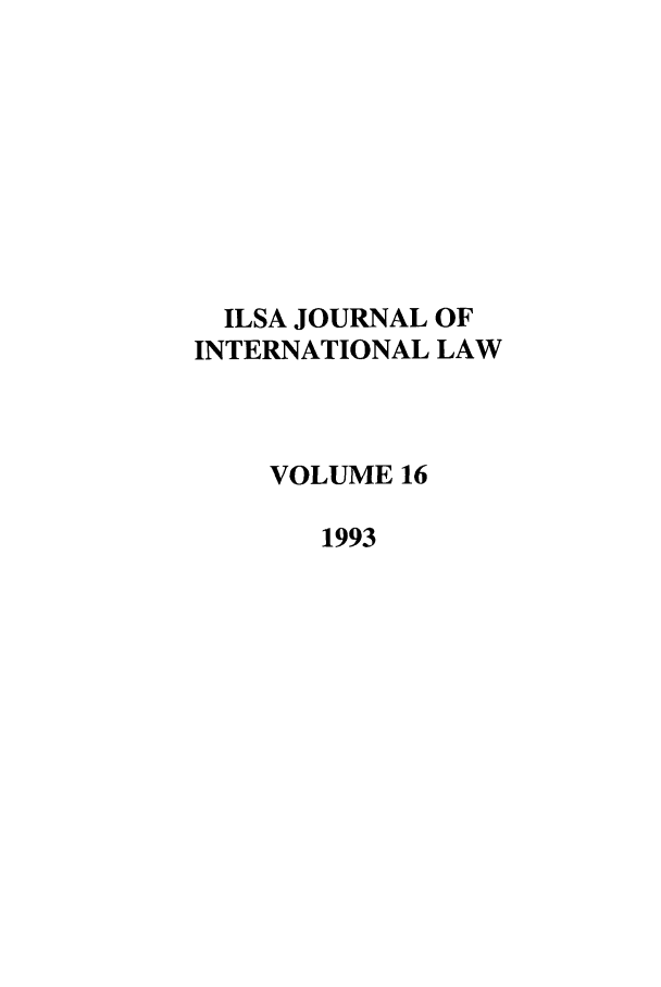 handle is hein.journals/ilsa16 and id is 1 raw text is: ILSA JOURNAL OF
