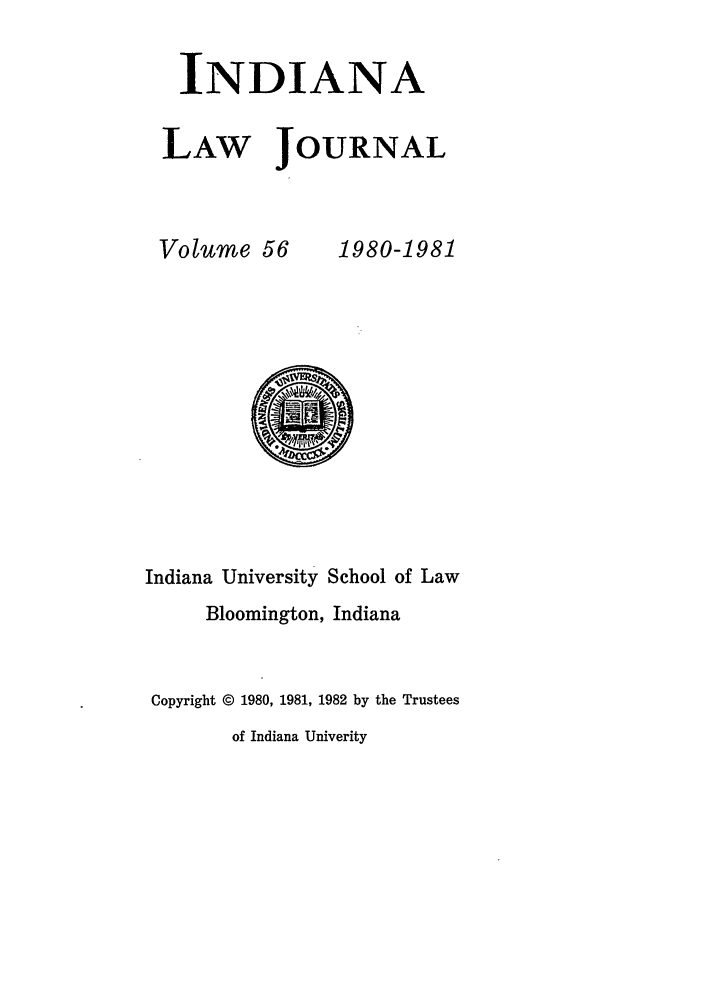 handle is hein.journals/indana56 and id is 1 raw text is: INDIANA