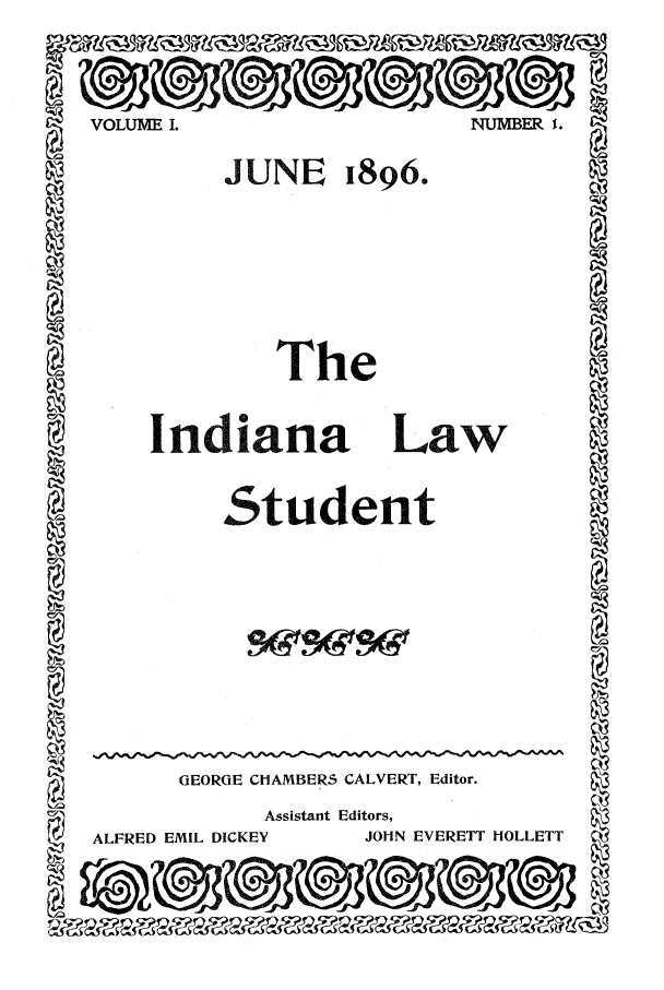 handle is hein.journals/indls1 and id is 1 raw text is: SVOLUME L.                         NUMBER I.