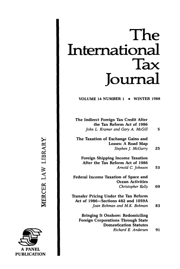 handle is hein.journals/intaxjo14 and id is 1 raw text is: The
