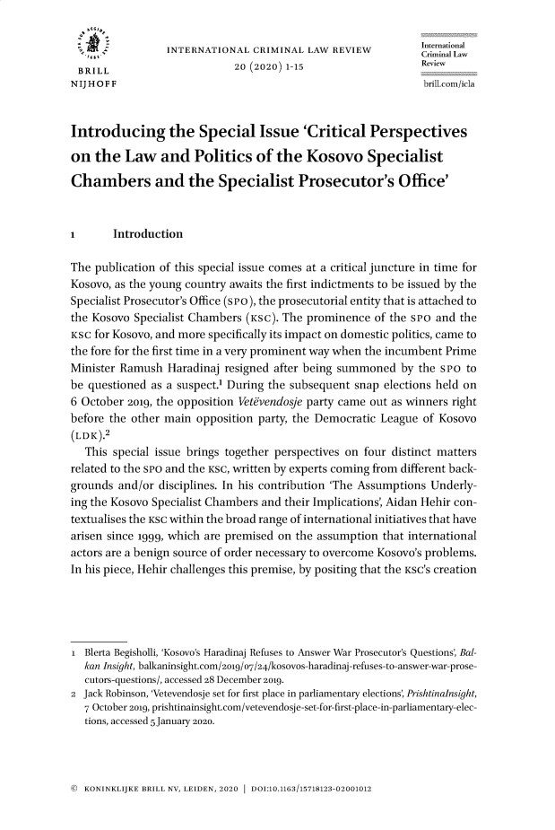 handle is hein.journals/intcrimlrb20 and id is 1 raw text is: 