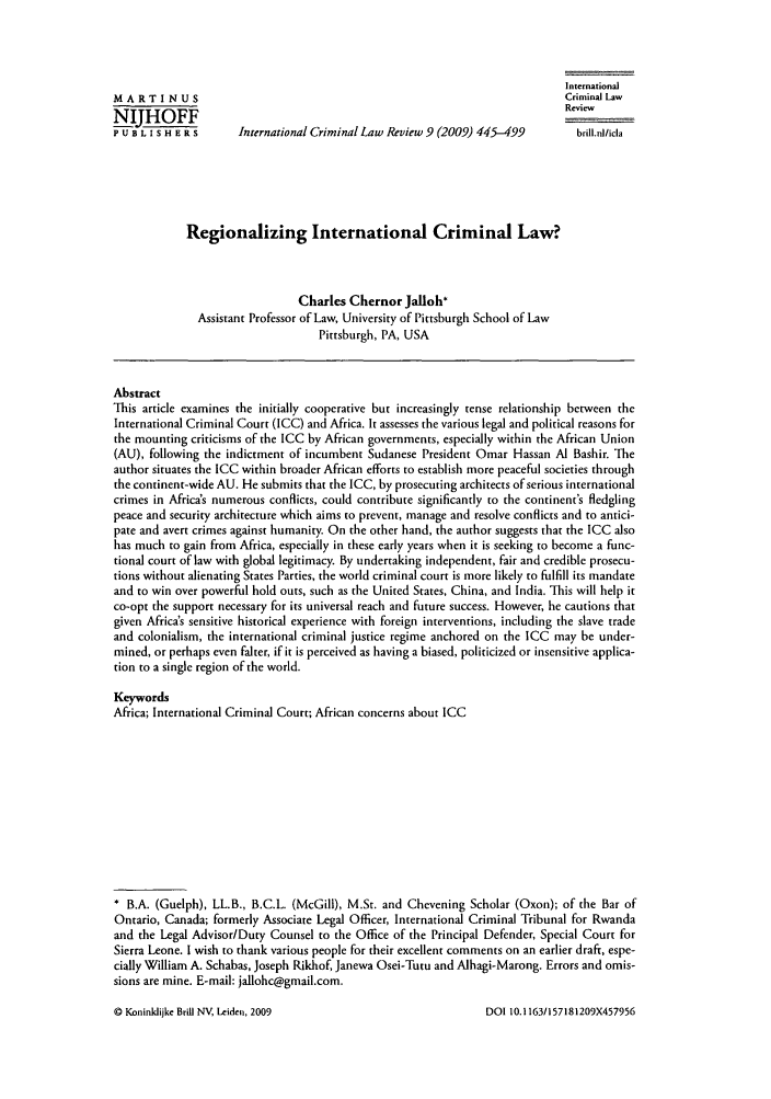 handle is hein.journals/intcrimlrb9 and id is 453 raw text is: International