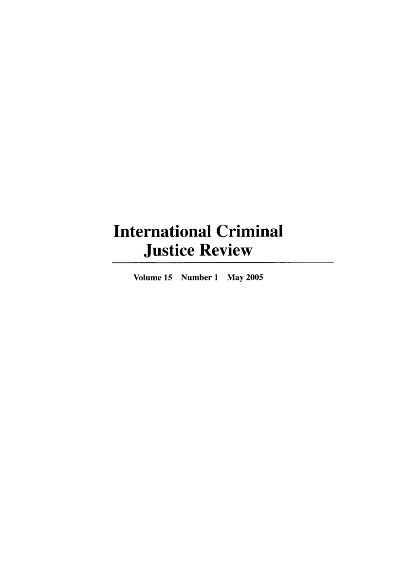 handle is hein.journals/intcrm15 and id is 1 raw text is: International Criminal