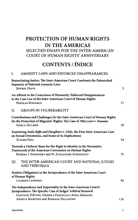 handle is hein.journals/intereur7 and id is 1 raw text is: PROTECTION OF HUMAN RIGHTS