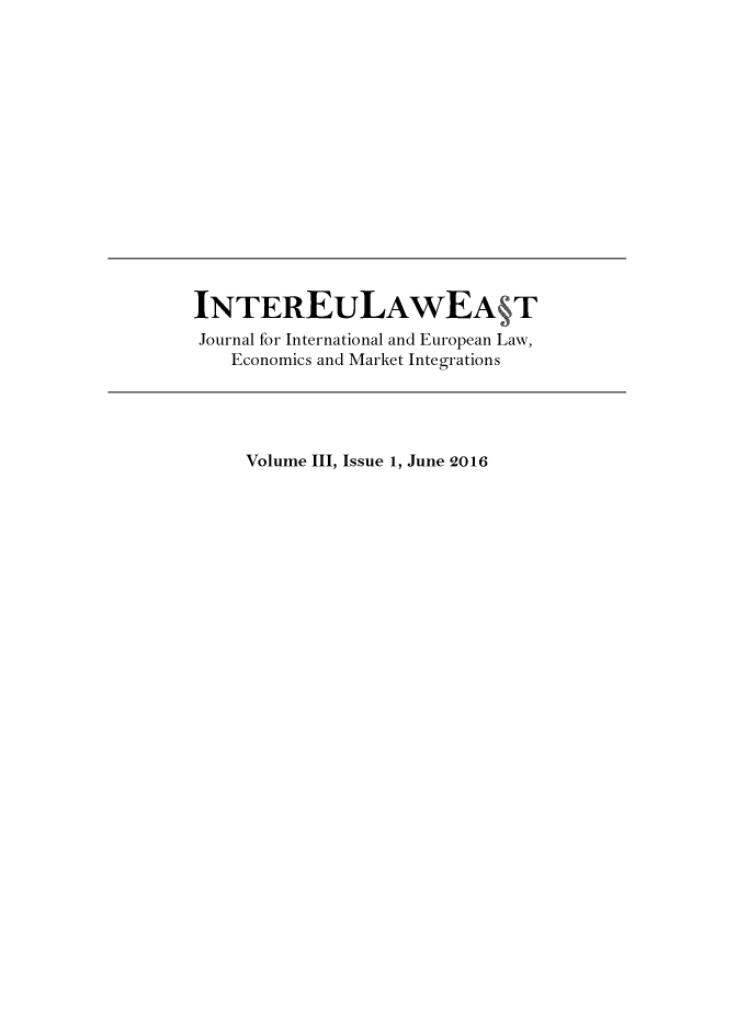 handle is hein.journals/inteulst3 and id is 1 raw text is: 