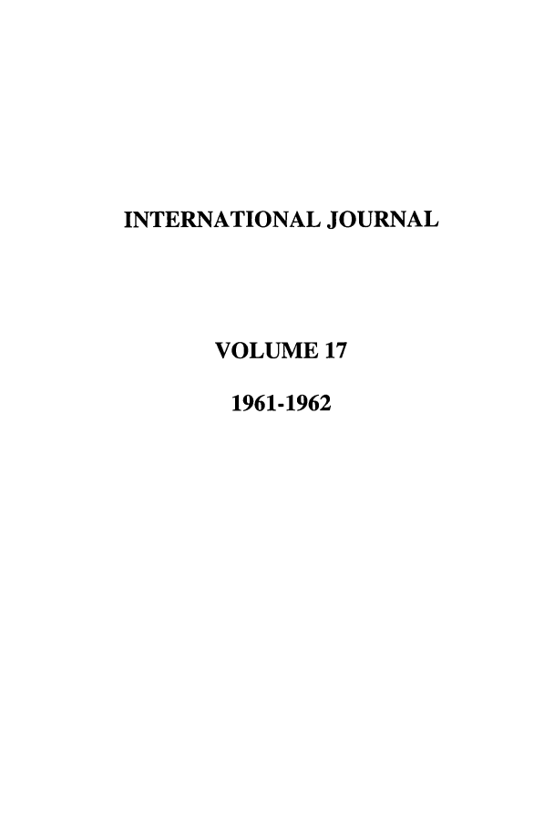 handle is hein.journals/intj17 and id is 1 raw text is: INTERNATIONAL JOURNAL