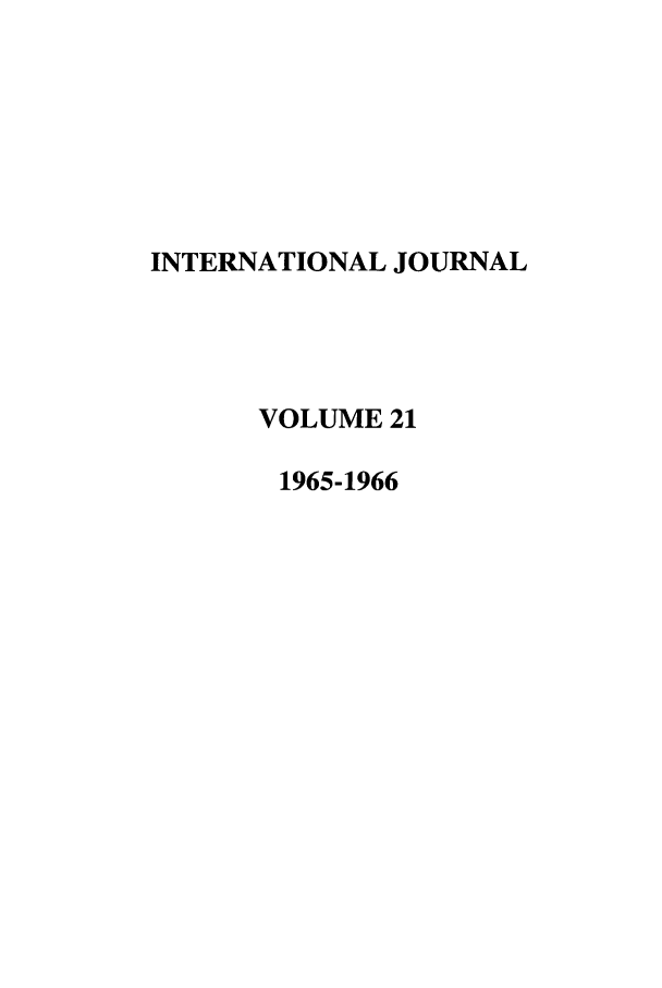 handle is hein.journals/intj21 and id is 1 raw text is: INTERNATIONAL JOURNAL