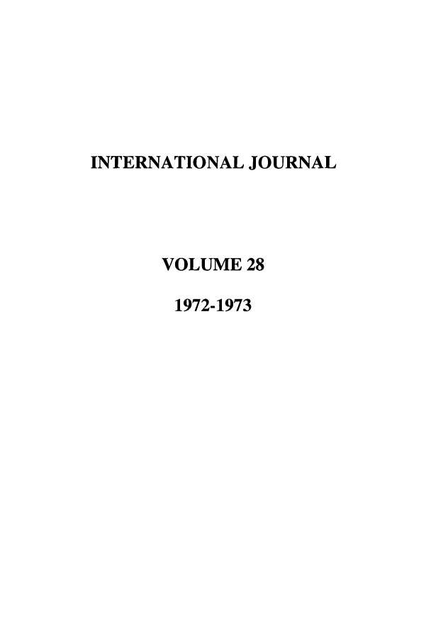 handle is hein.journals/intj28 and id is 1 raw text is: INTERNATIONAL JOURNAL
