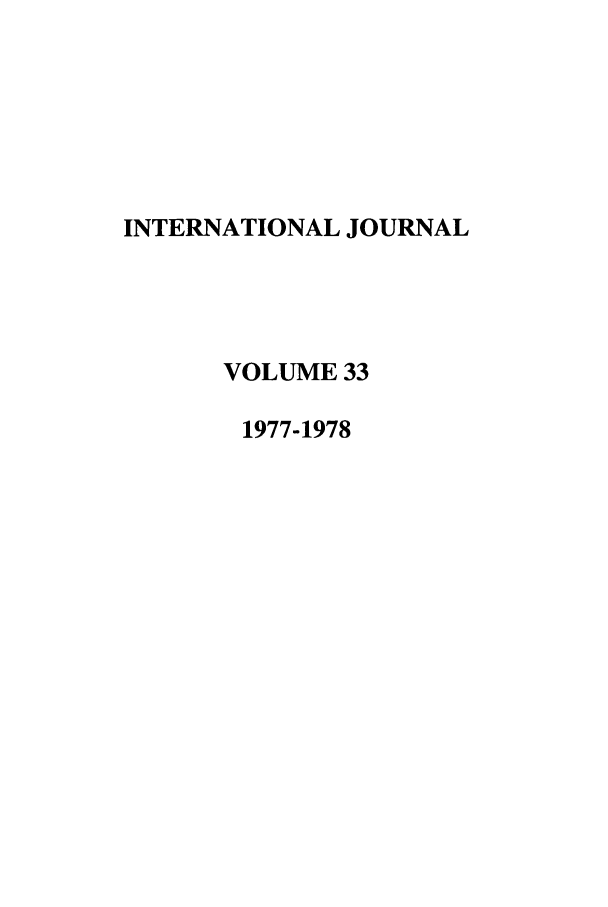 handle is hein.journals/intj33 and id is 1 raw text is: INTERNATIONAL JOURNAL