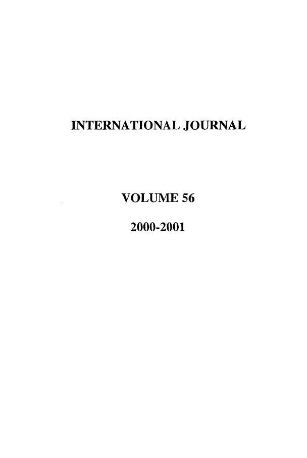 handle is hein.journals/intj56 and id is 1 raw text is: INTERNATIONAL JOURNAL