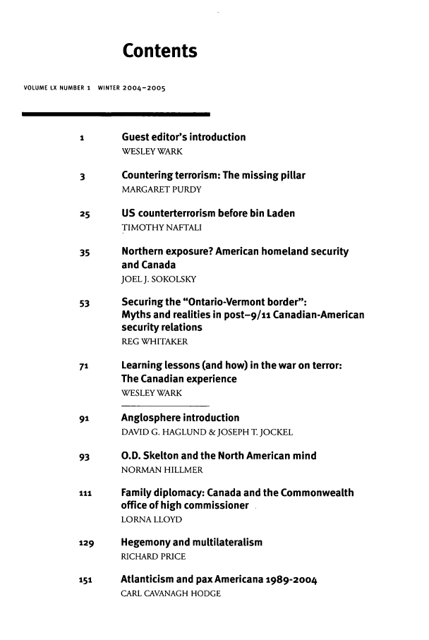 handle is hein.journals/intj60 and id is 1 raw text is: Contents