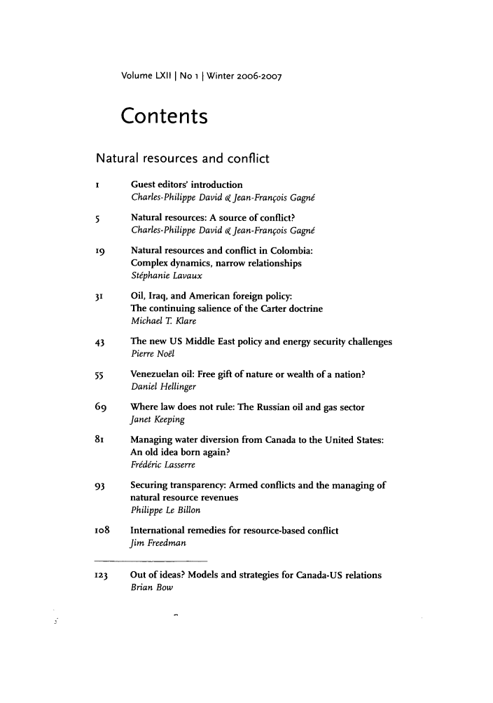 handle is hein.journals/intj62 and id is 1 raw text is: Volume LXIl I No 1 1 Winter 2oo6-2007