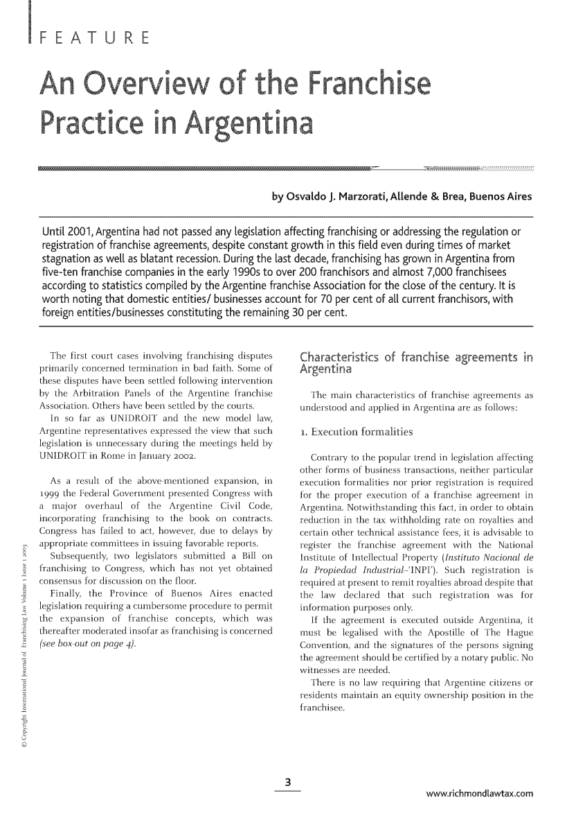 handle is hein.journals/intjoflw1 and id is 1 raw text is: FEA TURE