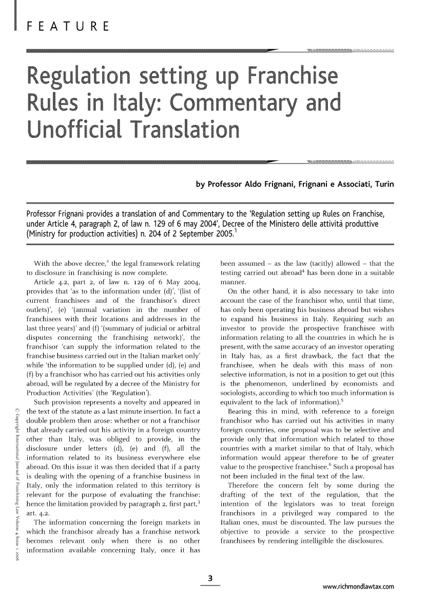 handle is hein.journals/intjoflw4 and id is 1 raw text is: I FEATU RE