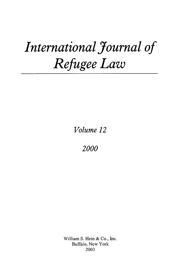 handle is hein.journals/intjrl12 and id is 1 raw text is: International