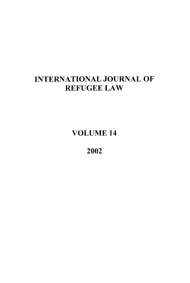 handle is hein.journals/intjrl14 and id is 1 raw text is: INTERNATIONAL JOURNAL OF