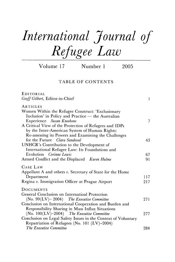 handle is hein.journals/intjrl17 and id is 1 raw text is: International Journal of