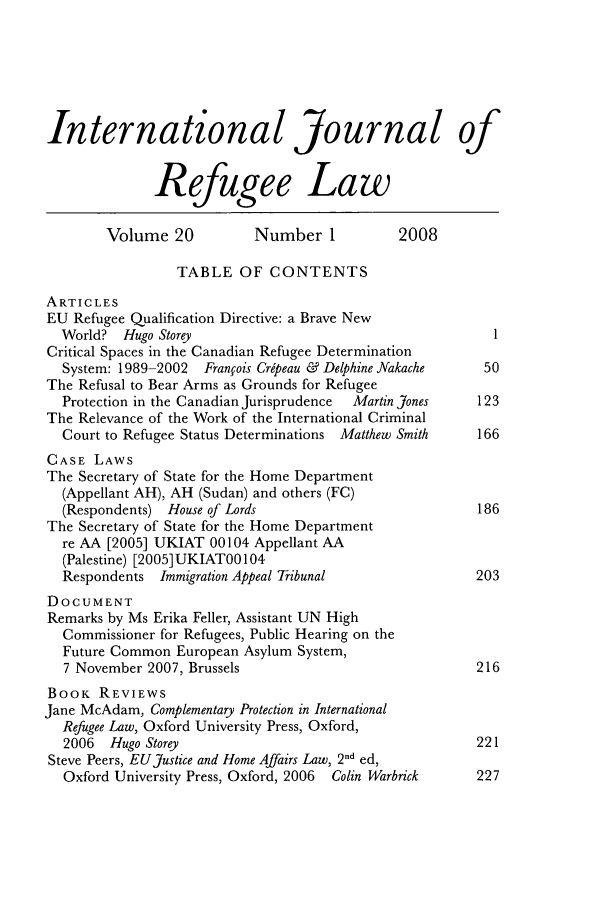 handle is hein.journals/intjrl20 and id is 1 raw text is: International Journal of