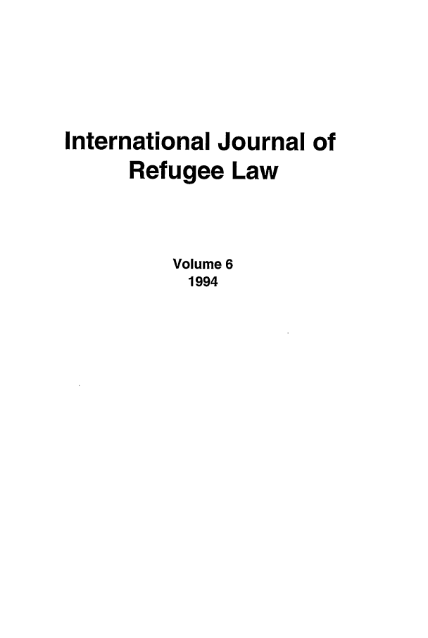 handle is hein.journals/intjrl6 and id is 1 raw text is: International Journal of