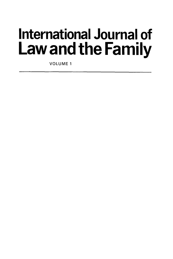 handle is hein.journals/intlpf1 and id is 1 raw text is: International Journal of