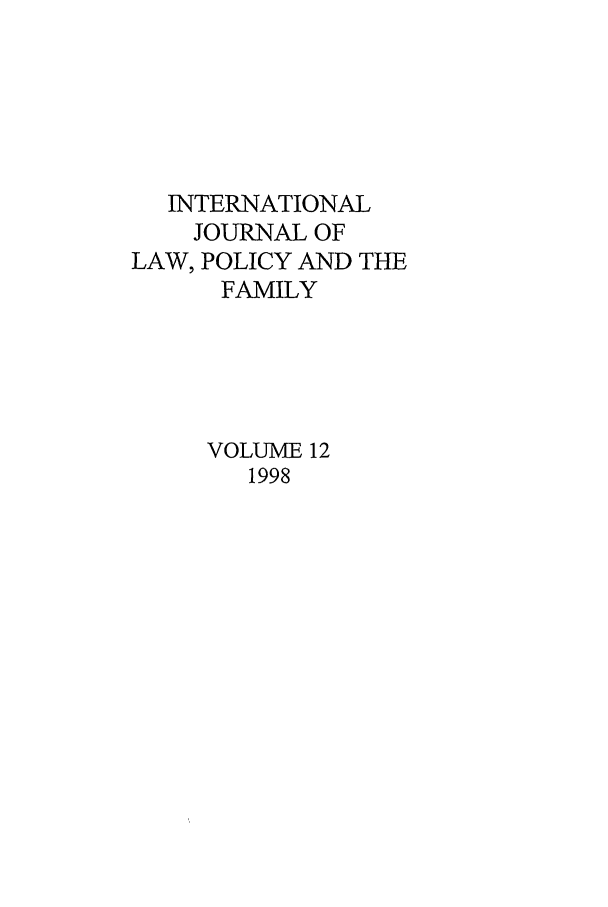 handle is hein.journals/intlpf12 and id is 1 raw text is: INTERNATIONAL