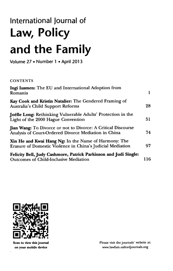 handle is hein.journals/intlpf27 and id is 1 raw text is: International journal of