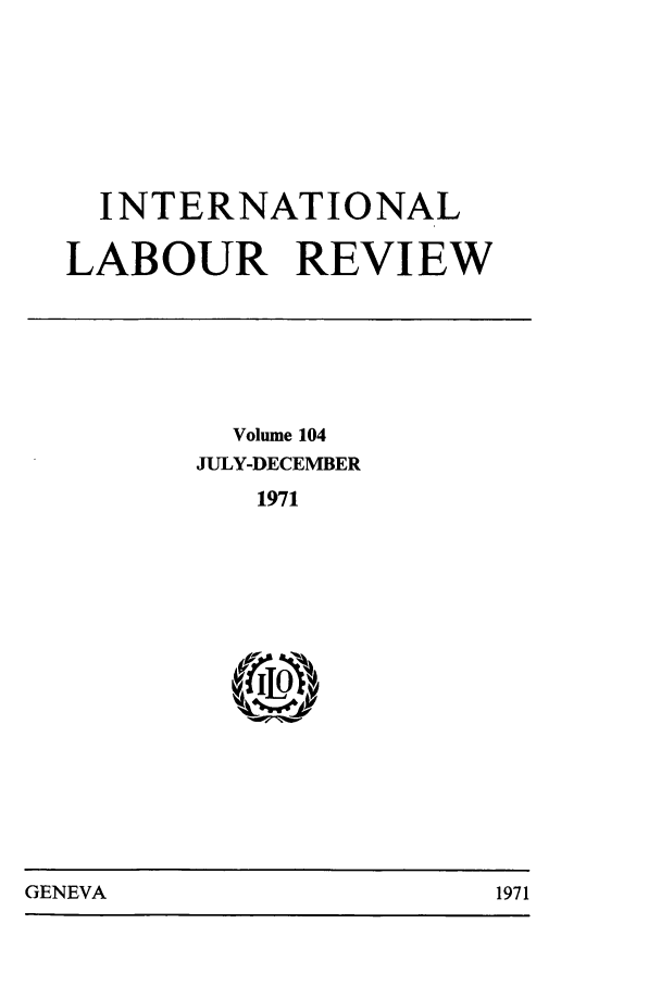 handle is hein.journals/intlr104 and id is 1 raw text is: INTERNATIONAL