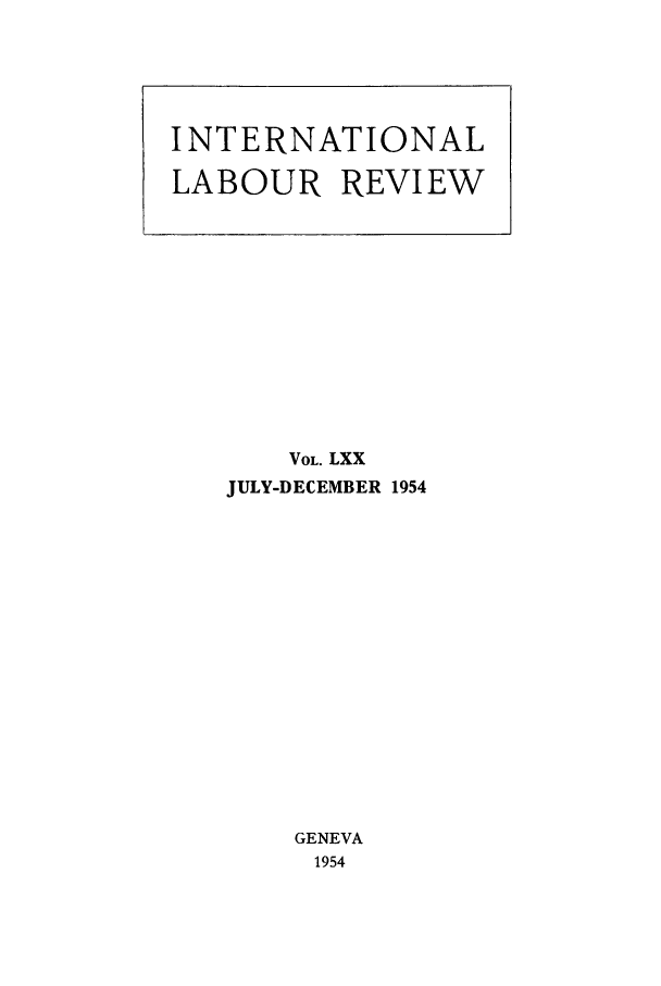 handle is hein.journals/intlr70 and id is 1 raw text is: VOL. LXX