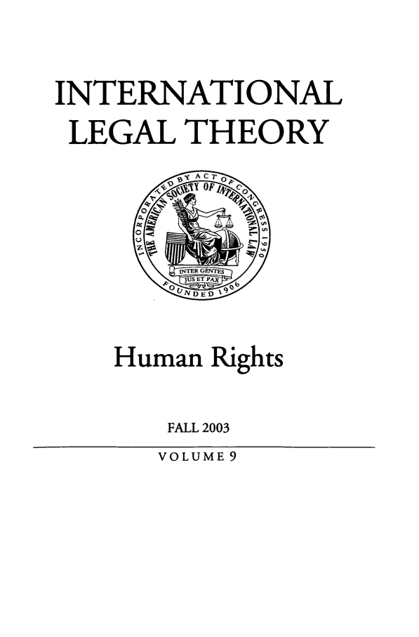 handle is hein.journals/intlt9 and id is 1 raw text is: INTERNATIONAL